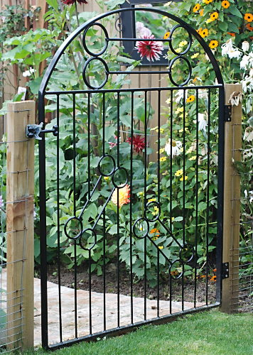 Garden Gate Pretty Curved Wood Garden Gate Garden Gates Make A